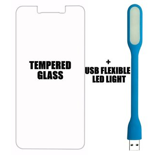BR Tempered Glass Screen Protector with 0.3mm Ultra Slim 9H Hardness 2.5D Round Edge for Lenovo 6000/K3 USB LED Light