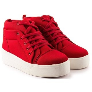 Clymb Queen-1 Red Heel Sneakers For Women's In Various Sizes