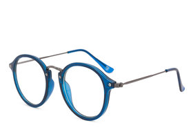 Royal Son Full Rim Round Spectacle Frame For Men and Women (RS0011SF47Transparent Lens)