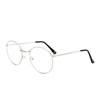 Royal Son Full Rim Round Spectacle Frame For Men and Women (RS006SF|50|Transparent Lens)