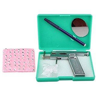 Stainless Steel Blue Plastic Ear Piercings Instrument Tool Kit Shots, 96 Set of Studs Jewelry for Men  Women