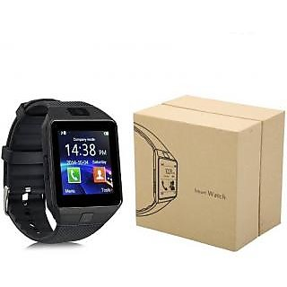 3-WISE MEN DZ09 Bluetooth watch Wrist Watch Phone with Camera SIM Card Support - Black