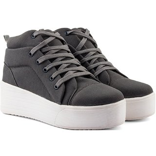 Clymb Queen-1 Grey Heel Sneakers For Women's In Various Sizes