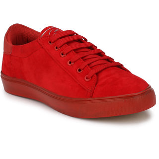 Buy Shoe Day Red Sneakers For Men