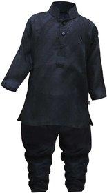 Tumble Full Sleeves Black Kurta  Pajama Set