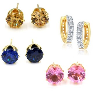 Gold Plated Designer Bollywood Style Colorful Mix Combo Of 4 Earrings By GoldNera