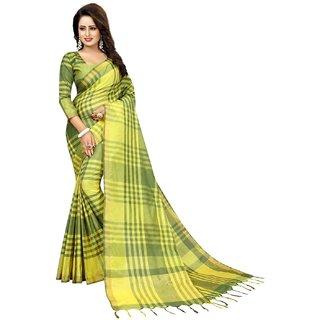 Bhuwal Fashion designer multicolor cotton silk sari-BF5031