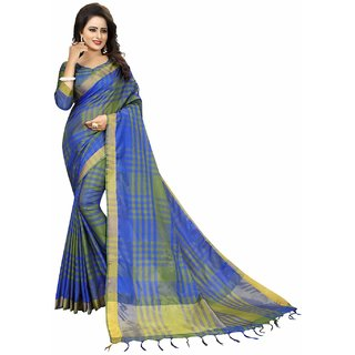Bhuwal Fashion stylish multicolor cotton silk sari-BF5032