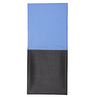 Dear Man Gwalior Suitings Mens Synthetic Shirt and Trousers Fabric (Blue and Grey) Measure-1.25Metre