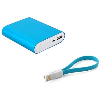 AMA METAL FAST CHARGING 10400 MAH POWER BANK (BLUE)