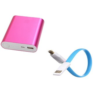 AMA METAL FAST CHARGING 10400 MAH POWER BANK (PINK)
