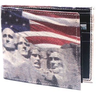Holboro Mount Rushmore Printed Multicolor PU Leather Mens Wallet