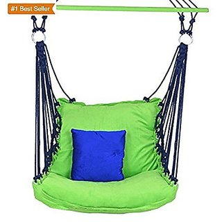 Aashi Enterprise Hammock Jumbo Adult Chair Cotton Swing - Green Folding N Washable