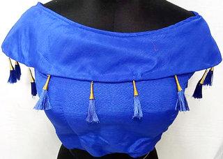 fancy blouse with jumkha blue color