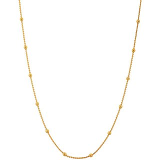 24 inch Gold Plated Chain for Women by Sparkling Jewellery