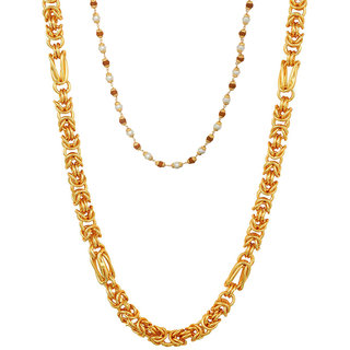 Gold Plated Heave Light Weight Chains Pack of 2 - By Sparkling Jewellery