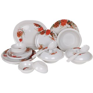 PALMS Smily Pack of 18 Printed Dinnerset High Quality Melamine- (Food grade safe Stain proof)