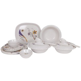 PALMS Binny Pack of 24 Printed Dinnerset High Quality Melamine- (Food grade safe Stain proof)