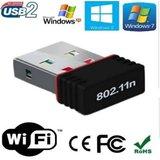 Wi Fi Receiver 300Mbps, 2.4GHz, 802.11b/g/n USB 2.0 Wireless Mini Wi Fi Network Adapter