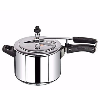 brightflame Pressure Cooker Aluminium 8 Ltr inner Lid - Induction Base