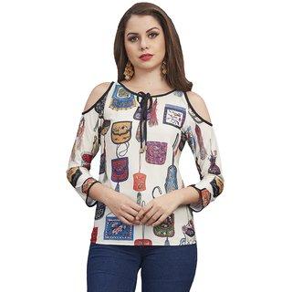 455d1ef540a Buy Women Wed Multi Color Women s Western Wear Tops (S) Online - Get ...