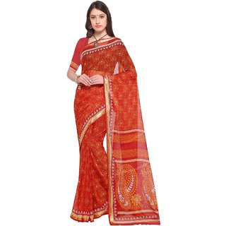 Aagaman Red  Georgette Casual  Printed Saree