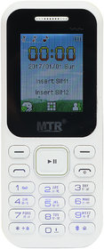 MTR MT310 DUAL SIM MOBILE PHONE IN WHITE COLOR