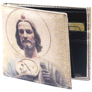 Holboro Saint Judes Close Up Printed Multicolor PU Leather Mens Wallet