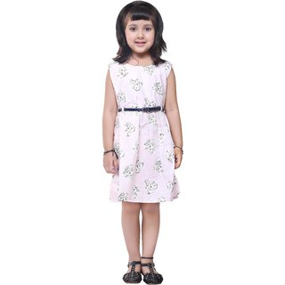 Meia for girls Pretty Pink printed cotton frock