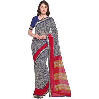 Aagaman Blue  Georgette Casual  Printed Saree