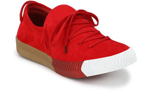SHOE DAY RED SLIP ON SNEAKERS FOR MEN-RC1012RED