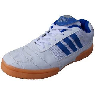 Port Unisex Smash PU Badminton Shoes