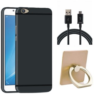 Leovo K5s Stylish Back Cover with Ring Stand Holder, USB Cable