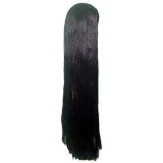 Tahiro Black Natural  Hair Wig For Girls - Pack Of 1