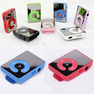 Sketchfab Mini MP3 Player free Data Cable and Earphone with High Quality Audio Sound - Multi Color
