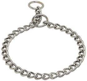 Petshop7 Chrome Plated Choke Dog Collar / Choke Chain Medium 8 No. - Length 30 Inch