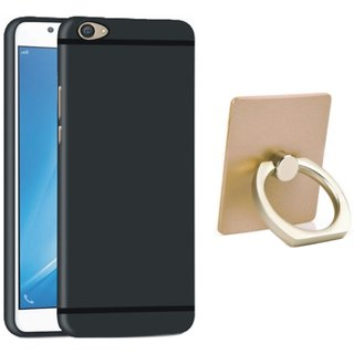 Leovo K5 Stylish Back Cover with Ring Stand Holder