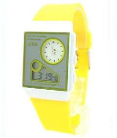 New Look Latest Designer Fancy Zilin Branded Multi-Function Dual Time Yellow Analog-Digital LED Gorgeous Elegant Watch