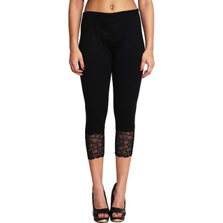 CH Fashion Women's Black Capri