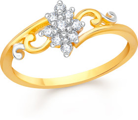 Vidhi Jewels Gold Plated Traditional Design Diamond Studded Alloy & Brass Finger Ring for Women and Girls [VFR479G]