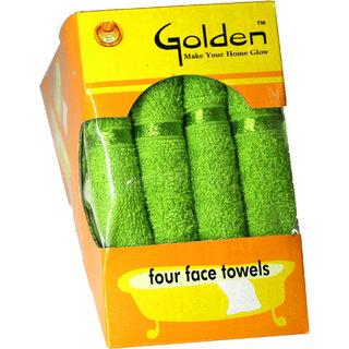 Exclusive 4 Pcs. Towel Set - Olive Green Color, 33 x 33 cm