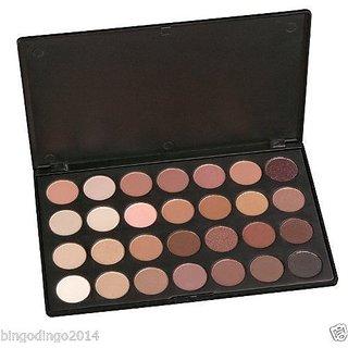Professional 28 Color Eye Shadow Palette Makeup Set, Neutral Warm Shades Range