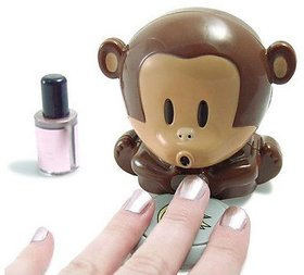 Cute Monkey Shaped Nail Polish Finger Toe Nail Art Tip Polish Blower Dryer