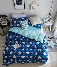 Attractive homes Beautiful Glace Cotton Bedsheet With 2 Pillow Covers