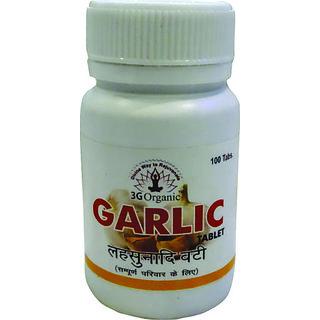 Garlic Tablet Lasunadi Vati 100 Tablets Combo Pack From 3G Organic