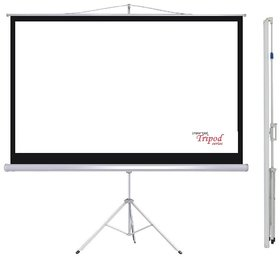 ELCOR Tripod projector screens 4ft x 6ft with 84 Diagonal In HD, 3D  4K Technology