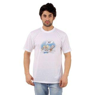 DFNK ATLANTA Men's Multicolor Printed Cotton Blend Round Neck T-shirt