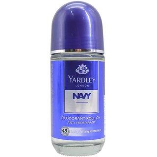 Yardley London Navy Anti-Perspirant Deodorant Roll-On - 50ml