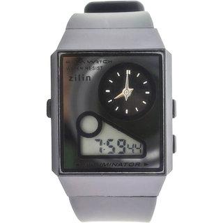 New Look Latest Designer Fancy Zilin branded Multi-Function Dual Time Black Analog-Digital LED Gorgeous Elegantt Watch