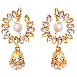 Voylla Shiny Stones Embellished Dangler Earrings For Women